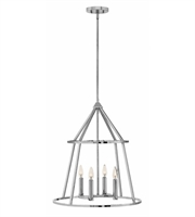 Picture for category Hinkley 3773PN Middleton Chandeliers 20in Polished Nickel Steel 4-light