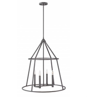 Picture for category Hinkley 3774GZ Middleton Chandeliers 26in Graphite Bronze Steel 4-light