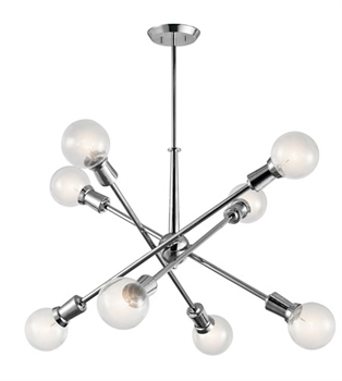 Picture of Kichler 43118CH Armstrong Chandeliers 30in Chrome Steel 8-light