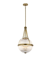 Picture for category Kichler 43968NBR Aster Pendants 15in Natural Brass Glass 3-light