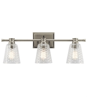 Picture for category Kichler 45097NI Nadine Bath Lighting 25in Brushed Nickel Steel 3-light