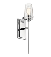 Picture for category Kichler 45295CH Alton Wall Sconces 5in Chrome Steel 1-light