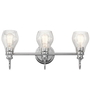 Picture for category Kichler 45392CH Greenbrier Bath Lighting 24in Chrome Steel 3-light