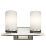 Picture for category Kichler 45496NI Crosby Bath Lighting 15in Brushed Nickel Steel 2-light
