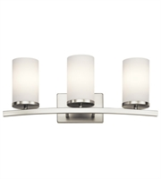 Picture for category Kichler 45497NI Crosby Bath Lighting 23in Brushed Nickel Steel 3-light