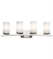 Picture for category Kichler 45498NI Crosby Bath Lighting 31in Brushed Nickel Steel 4-light