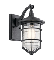 Picture for category Kichler 49126DBK Royal Marine Outdoor Wall Sconces 7in Distressed Black 1-light