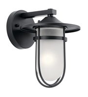 Picture for category Kichler 49824BK Finn Outdoor Wall Sconces 7in Black Aluminum 1-light