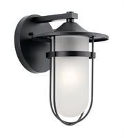 Picture for category Kichler 49825BK Finn Outdoor Wall Sconces 9in Black Aluminum 1-light