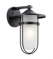 Picture for category Kichler 49826BK Finn Outdoor Wall Sconces 11in Black Aluminum 1-light
