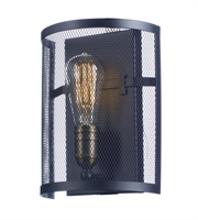 Picture for category Maxim 20112BKNAB Palladium Wall Sconces 8in Black/Natural Aged Brass 1-light