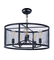 Picture for category Maxim 20114BKNAB Palladium Chandeliers 32in Black/Natural Aged Brass 6-light