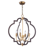 Picture for category Maxim 20293OIAB Crest Chandeliers 22in Oil Rubbed Bronze Antique Brass Steel