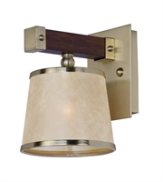Picture for category Maxim 20521AFAPSBR Maritime Wall Sconces 7in Antique Pecan Satin Brass 1-light