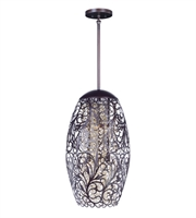 Picture for category Maxim 24151CGOI Arabesque Pendants 13in Oil Rubbed Bronze Metal+Crystal 6-light