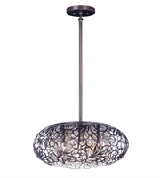 Picture for category Maxim 24155CGOI Arabesque Pendants 24in Oil Rubbed Bronze Steel+Crystal 9-light