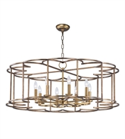 Picture for category Maxim 24734BZF Helix Chandeliers 38in Bronze Fusion Steel 8-light