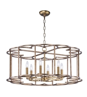 Picture for category Maxim 24735BZF Helix Chandeliers 32in Bronze Fusion Steel 6-light