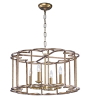 Picture for category Maxim 24736BZF Helix Chandeliers 24in Bronze Fusion Steel 4-light