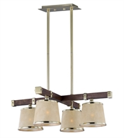 Picture for category Maxim 20525AFAPSBR Maritime Chandeliers 29in Antique Pecan Satin Brass 4-light