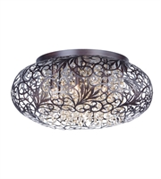 Picture for category Maxim 24150CGOI Arabesque Flush Mounts 18in Oil Rubbed Bronze Metal+Crystal
