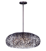 Picture for category Maxim 24154CGOI Arabesque Pendants 18in Oil Rubbed Bronze Metal+Crystal 7-light