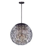 Picture for category Maxim 24156CGOI Arabesque Pendants 23in Oil Rubbed Bronze Metal+Crystal 9-light