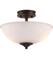 Picture for category Nuvo 62/908 Tess Semi Flush 13in Aged Bronze 2-light