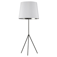 Picture for category Dainolite OD4L-F-691-MB Modern Floor Lamps 22in Matte Black Metal 1-light