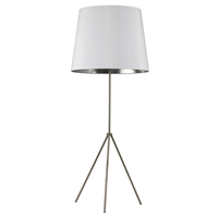Picture for category Dainolite OD4L-F-691-SC Modern Floor Lamps 22in Satin Chrome Metal 1-light