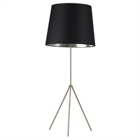 Picture for category Dainolite OD4L-F-697-SC Modern Floor Lamps 22in Satin Chrome Metal 1-light