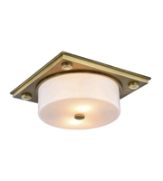 Picture for category Flush Mounts 2 Light With Urban Classic Burnished Brass size 13 in 80 Watts - World of Classic