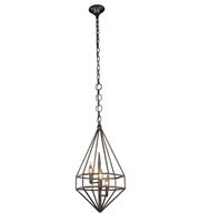 Picture for category Pendants Porch 3 Light With Urban Classic Aged Iron size 14 in 120 Watts - World of Classic