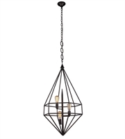 Picture for category Pendants Porch 3 Light With Urban Classic Aged Iron size 22 in 120 Watts - World of Classic