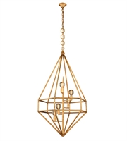 Picture for category Pendants Porch 5 Light With Urban Classic Golden Iron size 30 in 200 Watts - World of Classic