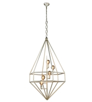 Picture for category Pendants Porch 5 Light With Urban Classic Vintage Silver Leaf size 30 in 200 Watts - World of Classic