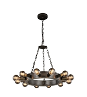 Picture for category Pendants Porch 12 Light With Urban Classic Aged Iron size 25 in 480 Watts - World of Classic