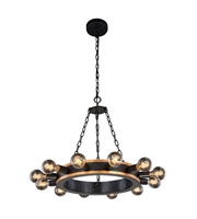 Picture for category Pendants Porch 12 Light With Urban Classic Golden Iron and Vintage Bronze size 25 in 480 Watts - World of Classic