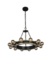 Picture for category Pendants Porch 12 Light With Urban Classic Silver Leaf and Vintage Bronze size 25 in 480 Watts - World of Classic