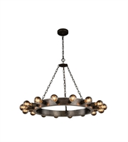 Picture for category Pendants Porch 16 Light With Urban Classic Aged Iron size 35 in 640 Watts - World of Classic