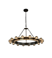 Picture for category Pendants Porch 16 Light With Urban Classic Golden Iron and Vintage Bronze size 35 in 640 Watts - World of Classic
