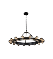 Picture for category Pendants Porch 16 Light With Urban Classic Silver Leaf and Vintage Bronze size 35 in 640 Watts - World of Classic
