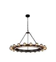 Picture for category Pendants 20 Light With Silver Leaf and Vintage Bronze Finish E26 Bulb 40 inch 800 Watts - World of Classic