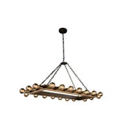 Picture for category Pendants 20 Light With Golden Iron and Vintage Bronze Finish E26 Bulb 21 inch 800 Watts - World of Classic