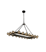 Picture for category Pendants Porch 20 Light With Urban Classic Silver Leaf and Vintage Bronze size 21 in 800 Watts - World of Classic