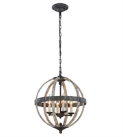 Picture for category Pendants Porch 4 Light With Urban Classic Ivory Wash and Steel Grey size 18 in 160 Watts - World of Classic