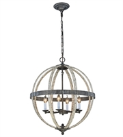 Picture for category Pendants Porch 6 Light With Urban Classic Ivory Wash and Steel Grey size 24 in 240 Watts - World of Classic