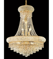 Picture for category Chandeliers 14 Light With Clear Crystal Elegant Cut Gold size 20 in 840 Watts - World of Classic