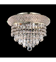 Picture for category Flush Mounts 3 Light With Clear Crystal Spectra made with Swarovski Chrome size 10 in 180 Watts - World of Classic
