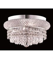 Picture for category Flush Mounts 4 Light With Chrome Finish Elegant Cut E12 Bulb 12 inch 240 Watts - World of Classic